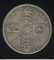 1 Florin Grande Bretagne / United Kingdom 1921 TTB - 1902-1971 : Monnaies Post-Victoriennes