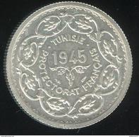 10 Francs Tunisie Muhammad Al-Amin 1945 - Protectorat Français - SUP - Mintage 2206 Coin ! - Tunisia