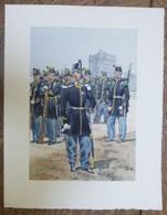 PIERRE ALBERT LEROUX - L'armée Française - Infanterie - Belle Planche Rehaussée Aux Coloris -  1930 - 32 Cm * 24 Cm - Altri