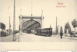 CPA  Kehl - Rheinbrücke -  Circulée 1903 - Allemagne