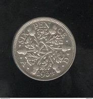 6 Pence Grande Bretagne / United Kingdom 1934 TTB+ - 1902-1971 : Monnaies Post-Victoriennes