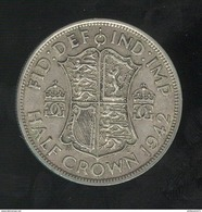 1 Demi Couronne / Half Crown - Grande Bretagne / United Kingdon 1942 TTB - 1902-1971 : Monnaies Post-Victoriennes
