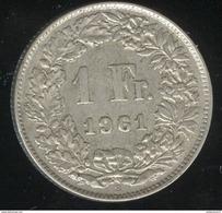 1 Franc Suisse / Switzerland 1961 TTB - Suisse