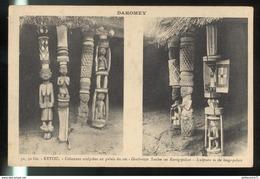 CPA Dahomey - Colonie Française - Art Africain -  Ketou - Colonnes Sculptées Au Palais Du Roi - Non Circulée - France