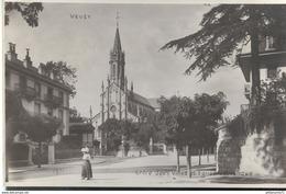 CPA  Vevey - Entre Deux Villes - Eglise Catholique - Non Circulée - VD Waadt