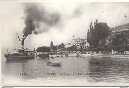 CPA  Vevey - Tour - Embarcadère - Non Circulée - VD Waadt
