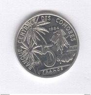 5 Francs Comores 1984 - SUP - Comoros