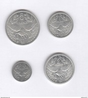 Lot Nouvelle Calédonie  0,5 , 1 , 2  Francs 1949 Et 5 Francs 1952 - Colonie Française - TTB+ à Sup - Nouvelle-Calédonie