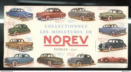 Buvard Norev - Collectionnez Les Miniatures De Norev Echelle 1/43ème - Etat Moyen - Buvards, Protège-cahiers Illustrés
