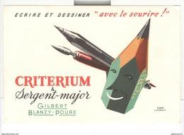 Buvard Criterium Et Sergent-Major - Gilbert Blanzy-Poure - Bon état - Papeterie