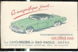 Buvard Cafés Masda - Studebaker Commander - Bon état - Koffie En Thee