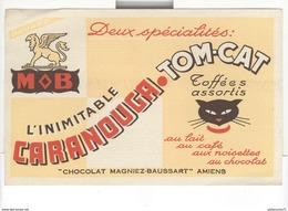 Buvard MOB - Caranouga Tom-Cat - Chocolat Magniez Baussart Amiens - Très Bon état - Chocolat