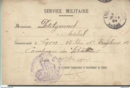 Lettre Réponse Type - Service Militaire - Demande D'ajournement Accordée - 1904 - Dokumente