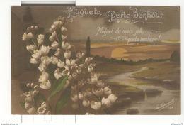 CPA 1er Mai - Muguet Porte Bohneur - Circulée 1919 - Other