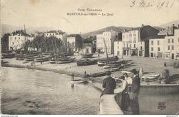 CPA  Banyuls Sur Mer - Quai -  Circulée 1921 - Banyuls Sur Mer