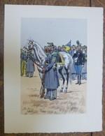 PIERRE ALBERT LEROUX - L'armée Française - Infanterie - Belle Planche Rehaussée Aux Coloris -  1930 - 32 Cm * 24 Cm - Books, Magazines  & Catalogs