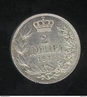 2 Dinars Serbie 1915 - Milan 1er - SUP - Serbie