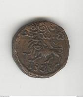 20 Cash Inde - Etat Princier Mysore 1833-1843 - Raja Krishna Wodeyar - TTB - Inde
