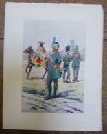 PIERRE ALBERT LEROUX - L'armée Française -  Belle Planche Rehaussée Aux Coloris -  1930 - 32 Cm * 24 Cm - Books, Magazines  & Catalogs