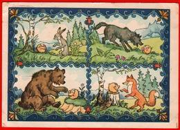 Gingerbread Man Bear Wolf Fox 1956 Hare Tale Comic Nosov Passed Mail - Orsi