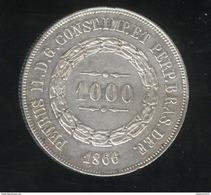 1000 Réis Brésil / Brasil 1866 - TTB+ - Brésil