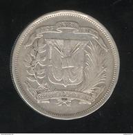 1/2 Peso - Medio Peso République Dominicaine 1937 - TTB+ - Dominicana