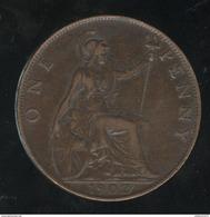 1 Penny Angleterre 1902 Edouard VII TTB - 1902-1971 : Monnaies Post-Victoriennes