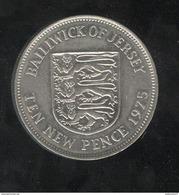10 New Pence Jersey 1975 Victoria - TTB+ - Jersey