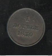 1 Double Guernesey 1830 TTB+ - Guernsey
