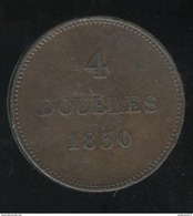 4 Doubles Guernesey 1830 TB+ - Guernsey