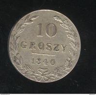 10 Groszy Pologne Sous Administration Russe 1840 - TTB - Pologne