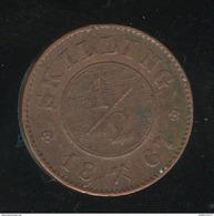 1/2 Skilling Norvège / Norway 1867 TTB - Norvège