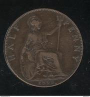Half Penny Angleterre 1898 Victoria TTB - 1816-1901 : Coniature XIX° S.