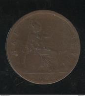 Half Penny Angleterre 1861 Victoria TB - 1816-1901 : Frappes XIX° S.
