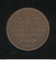 1/2 Kopeck Russie / Russia 1909 TTB+ - Russland