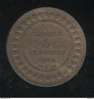 5 Centimes Tunisie 1892 A - TTB+ - Tunisie