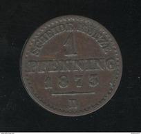 1 Pfenning Prusse 1873 B - TTB - Petites Monnaies & Autres Subdivisions