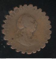 1/2 Penny 1799 Fantaisie / Curiosité Numismatique - 1662-1816 : Antiche Coniature Fine XVII° - Inizio XIX° S.