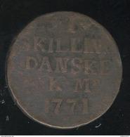 1 Skilling 1771 Danemark - TB - Dänemark
