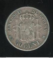 50 Centimos Espagne 1881 Alphonse XII - TTB+ - Other