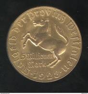Notgeld Westphalie / Westfalen - 5 Millions De Mark / 5 Millionen Mark 1923 - Freiherr Vom Stein - TTB+ - [ 3] 1918-1933 : Weimar Republic