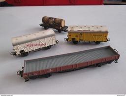 Lot De 4 Wagons Marklin HO - Circa 1955 - Bon état - Autres Collections