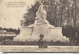 CPA  Pont Saint Esprit - Monument Aux Morts De La Grande Guerre - Circulé 1928 - Pont-Saint-Esprit