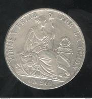 1 Sol Pérou / Peru 1892 SUP - Pérou