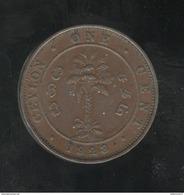 1 Cent Ceylan / Ceylon 1928 - Colonias