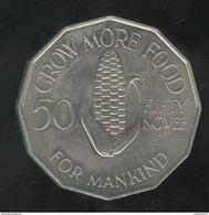 50 Ngwee Zambie 1969 FAO - TTB+ - Zambia