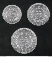 Lot 10 , 20 , 50 Sen Cambodge 1959 Norodom Suramarit - SPL - Camboya