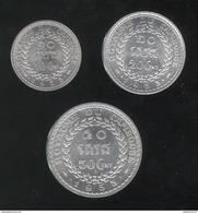 Lot 10 , 20 , 50 Centimes Cambodge 1953 Norodom Sihanouk - SPL - Cambodge