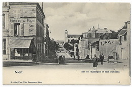 NIORT - Rue De L'Espingole Et Rue Gambetta - Niort