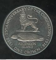 1 Crown Ile De L'Ascension / Ascension Island - CC Coronation 1978 - Ascension (Ile)